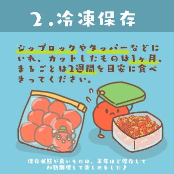 トマトの冷凍保存方法(フルティカ)2