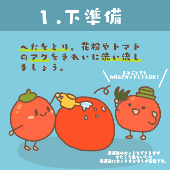トマトの冷凍保存方法(フルティカ)1