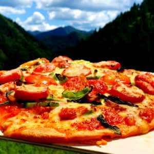 トマトレシピ炭火焼ピザ
