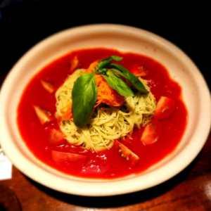 トマトレシピ冷静パスタ