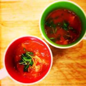 トマトレシピ温野菜トマトスープ